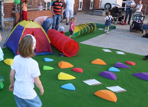 Bewegungsstrecke für Kinder