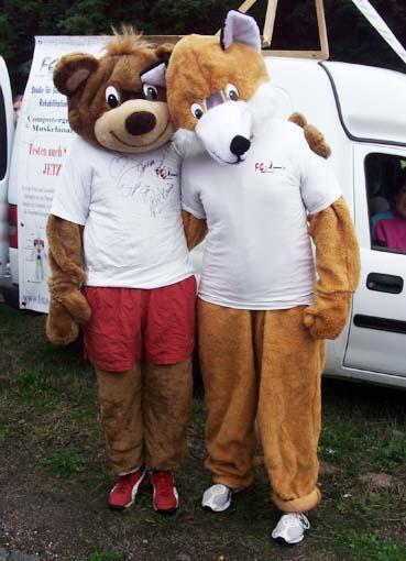 Bär und Fuchs (nur mit Person)